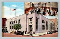 Atlantic City NJ, US Post Office, Linen New Jersey c1939 Postcard