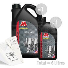 Car Engine Oil Service Kit / Pack 6 LITRES Millers Oils CSS 10w-40 6L