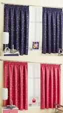 Moon & Stars Metallic Tape Top Thermal Semi Blockout Curtains Children Kids 46 X