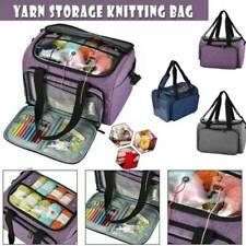 DIY Knitting Large Storage Bag Crochet Hooks Organizer Portable Yarn Thread Tote