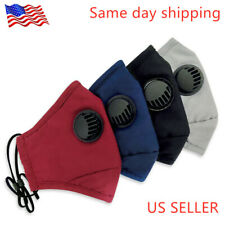 100% Cotton Washable Reusable Face Mask + 2 Filters  Activated Carbon respirator
