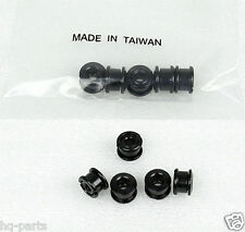 BICYCLE BIKE STEEL 6.5mm SINGLE CHAIN RING CRANK NUTS BOLTS SCREW 5 SETS BLACK