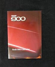 Prospekt / Brochure - Saab 900 Cabriolet - 1986