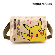 POKEMON Pikachu Anime Manga Tasche Tragtasche Messenger Bag 31x26cm PU/Leinwand
