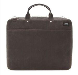 Jack Spade Waxwear Computer File Case, Chocolate, NWT $398