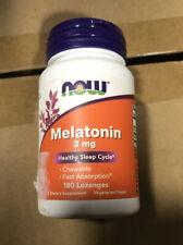 Now Foods Melatonin (3mg) Chewable 180 Lozenges