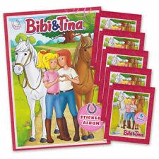 Bibi und Tina Sticker Edition 2019 - Sammelalbum + 5 Booster deutsche Ausgabe
