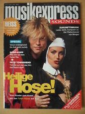 MUSIKEXPRESS 8/1993 Campino Toten Hosen Billy Idol Pete Townshend Black Sabbath