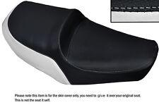 WHITE & BLACK CUSTOM FITS YAMAHA XS 650 SE DUAL LEATHER SEAT COVER