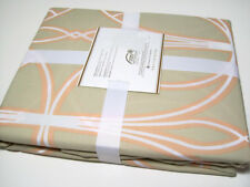 Pottery Barn Organic Cotton Light Brown King Cal King Aubrey Duvet Cover 2 Shams
