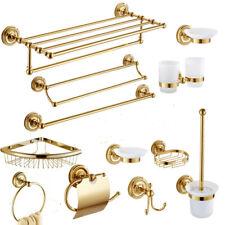 Luxury Gold Bathroom Accessories Hardware Set Towel Bar Rail Toilet Paper Holder