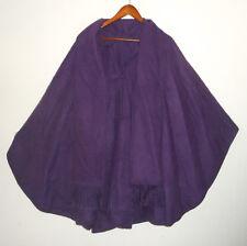 CCAHUANTICO Artesian ALPACA Wool CAPE Poncho PURPLE Wrap Shawl Cloak w Scarf NEW