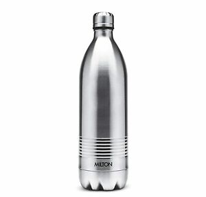 Milton Duo DLX 500 Thermosteel 24 Hours Hot & Cold Water Bottle, 500 ML, Silver