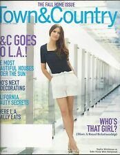 Town and Country magazine Sophie Winkleman Fall home issue Los Angeles Decor
