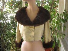 SOPHIE of SAKS  Sophie Gimbel LEGENDARY DESIGNER Mink Fur trim BROCADE JACKET