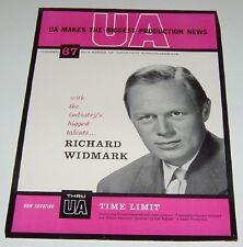 Richard Widmark Vintage Announcements Time Limit 1957 Promo mini poster