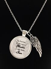 Guardian Angel Son In Heaven Wing Child Passed Away In Memory Sympathy Necklace