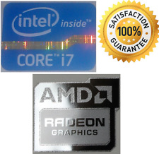 Scheda grafica AMD Radeon + Intel Inside Core i7 PC Windows Adesivo 8 10 7 XP VISTA UK