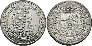 Austria 1704 Silver Taler (Thaler) Leopold