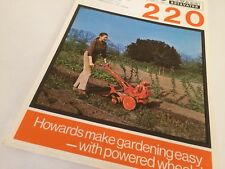 HOWARD 220 Rotavator -  Original June 1972 Vintage Sales Brochure