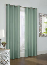 """Prescott Alcove Thermalogic Curtain Pair with Grommets, 84"""" length, Sage color"""