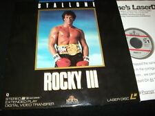 "ROCKY 111<>SYLVESTER STALLONE<>RARE 12"" Laserdiscs<>MGM ML102086 ° 1990 (1982)"