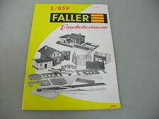 AF604-1# pequeños Faller Folleto Gamas de producto E/859 DM