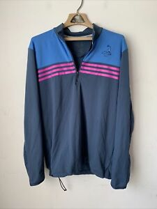 Adidas Climacool Pinehurst Womens 1/4 Zip Pullover Jacket Size Medium Gray Blue