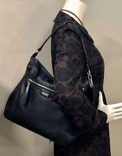 Coach Daisy Leather Hobo Bag 23937 Black