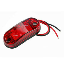 New 2 LED 12V / 24V Vehicles Truck Lorry Side Marker Turn Lamp Lights-Red