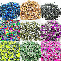 1000 Metal HotFix Iron On Rhinestud Beads with Glue easy to apply fabric decor