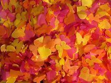 biodégradable mariage confetti rose orange jaune cœur & PAPILLON mélange