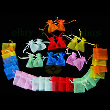 """Jewelry Wedding Party Favor Gift Bags 100Pcs Mixed 4"""" X 3"""" Organza Pouches"""