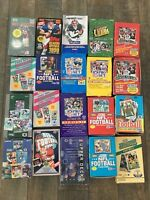 100 Football Cards from 7 Sealed Packs 1989-1999 Favre/Manning Rookie! CLEARANCE