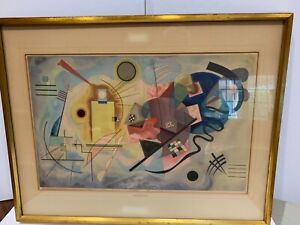 Wassily Kandinsky lithograph Yellow Red Blue plate sgnd 1925 Maeght Editeur 1954