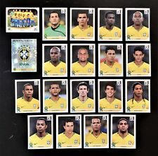 Panini FIFA World Cup South Africa 2010 Complete Team Brazil + Foil Badge