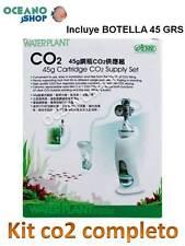 Kit completo Waterplant I672 ista CO2 botella 45 GRS regulador acuario plantas