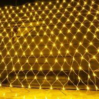 LED Net Mesh Fairy String Light Garland Window Curtain Christmas Fairy Light New