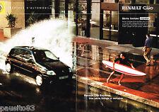 PUBLICITE ADVERTISING 075  2001  RENAULT CLIO  série EXTREME ( 2p)