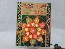 New The Trimmery 19 Light Tree Top or Wall Plaque
