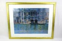 """Framed Claude Monet Art Poster Venice Palazza Da Mura 24"""" x 30"""""""