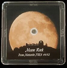 GRAND EDITION - AUTHENTICATED LUNAR METEORITE - 19mg Moon Rock Display+Easel