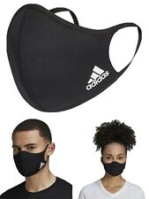 Adidas Face Mask Cover Protection 100% Authentic Adult Size Large 1Pc Black