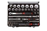 Wurth Zebra 1/4 inch + 1/2 inch socket wrench assortment, 56PC Tool Set Mechanic