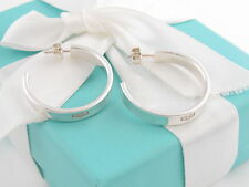 Auth Tiffany & Co 1837 Large Hoop Earrings Box Included