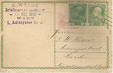 AUSTRIA  POSTAL STATIONERY 5h POSTCARD WITH VIENNA  CANCEL 382