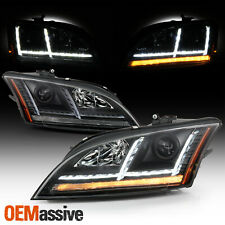 For 08-14 Audi Tt Quattro [Hid w/Afs] Projector Black Headlights Led Sequential (Fits: Audi)