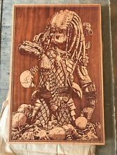Predator Wood Etched Poster