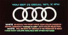 Iconic Rings For Audi A3,A4,A5,A6,A7,A8,TT,S4-8,Quattro  Die Cut Vinyl Decals
