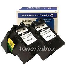 2pk Black Ink Cartridges for Canon PG-240XL PG240XL PIXMA MG3222 MG3520 MG3522